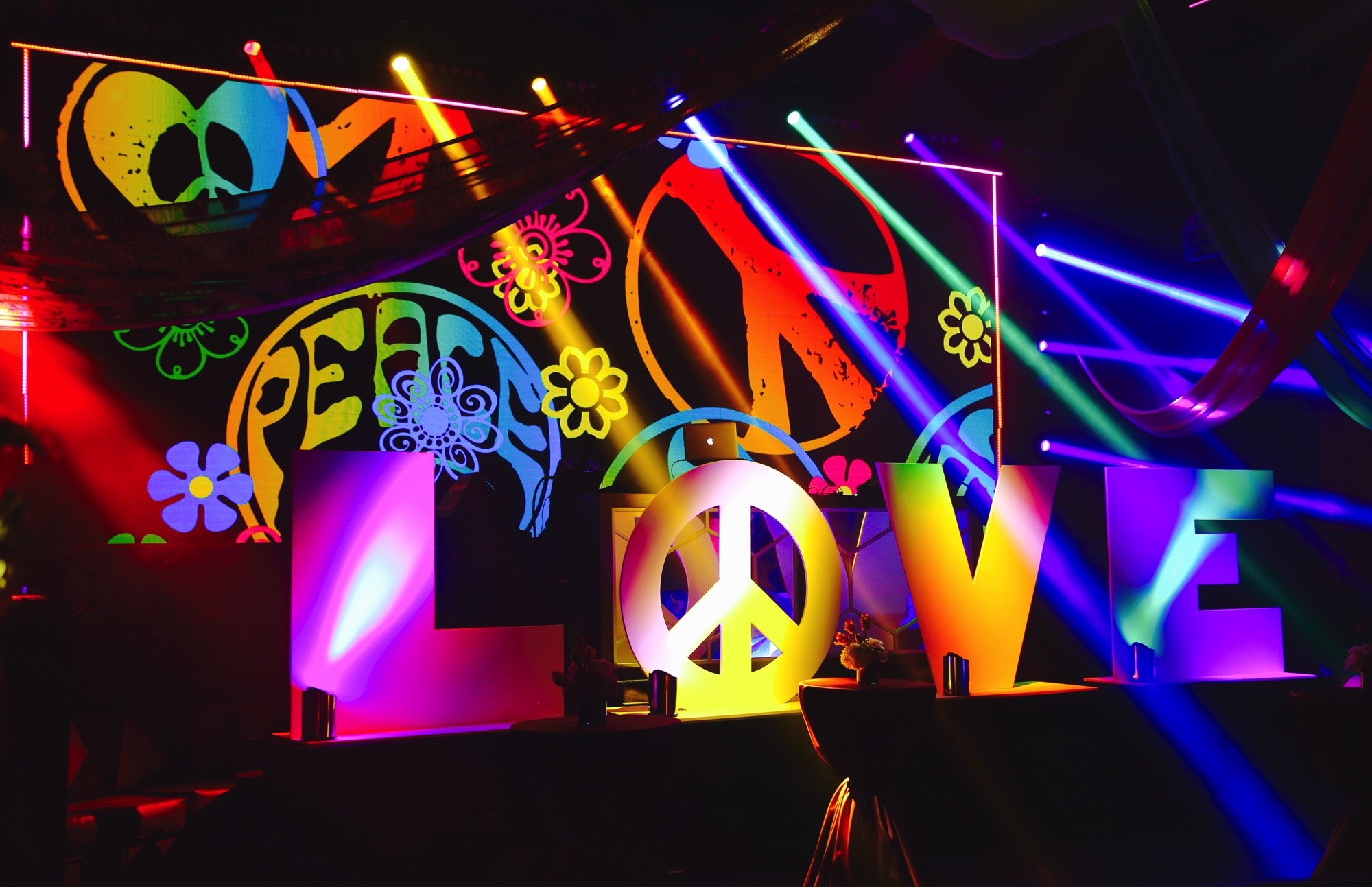 Event Company Cisco / George P Johnson EMEAR conference peace love and the 60's stage production
