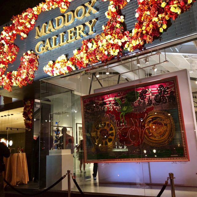 party planner Maddox Gallery VIP Opening Event Exterior